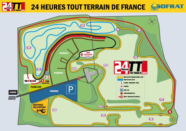 Plan du circuit en 2015 (Chevannes).
